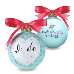 wedding ornament II DIY @Meredith White @Lindsey Bagwell put this on our to do list!