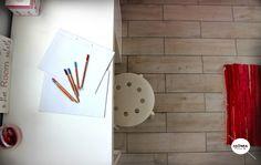 apartment in haifa, children room, desk,  parquet floor