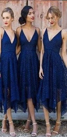 Navy Blue/Pink Deep V-neck Spaghetti Straps Sleeveless Asymmetry Lace A-line Bridesmaid Dress Mermaid Prom Dresses Lace Bridesmaid Dresses Bridesmaid Dresses Blue Sleeveless Bridesmaid Dresses A-Line Bridesmaid Dresses Bridesmaid Dresses 2018 Short Lace Bridesmaid Dresses, Bridesmaid Dresses Online, Blue Bridesmaids, Prom Dresses, Dress Prom, Fall Dresses, Cheap Dresses, Wedding Shoes For Bridesmaids, Colorful Bridesmaid Dresses