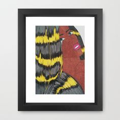 lightning comic girl (grain effect) Framed Art Print by Pretty Rose Petal - $30.00 #home #decore #textiles #homedecore #art #illustration #newdesign #design #comicgirl #popart #superhero #comicbook #colour #hair #lightning #bright #bold #blackcomic #followme