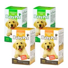 Baby Dog& Cat Pet food supplement products- Immunity Care& Intestinal Care (Milk flavor) 60g*4bottles Free Shipping. 60 g/bottle, 2 bottles for Immunity Care+ 2 bottles for Intestinal Care, total 4 bottles. Immunity Care Fucntion: Prevent sickness, enhance immunity, nutrient supplement. Intestinal Care Fucntions: Recover functions of stomach and intestines, normal defecation, reduce fecal odor. He... #FEBICO #PetProducts