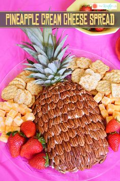 This pineapple cream cheese spread with pecans will wow your guest at your next party Before the pa This pineapple cream cheese spread with pecans will wow your guest at your next party Before the pa Betsy Bowman nbsp hellip Cheese Ball Cream Cheese Ball, Cream Cheese Dips, Cream Cheese Spreads, Pineapple Cream Cheese Spread Recipe, Hawaiian Appetizers, Hawaiian Luau Party, Tropical Party, Hawaiian Theme, Aloha Party