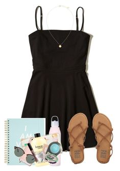 """""""Sorry I haven't been posting much, I have friends visiting!!"""" by zoejm ❤ liked on Polyvore featuring Hollister Co., ban.do, Kate Spade, philosophy, Billabong, Ray-Ban, Clinique, NYX and Bling Jewelry"""
