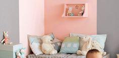 Con pintura puedes delimitar los espacios de la habitación de tu peque. Más ideas clic a la imagen