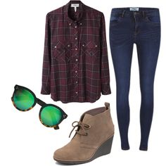 """""""Indestructible"""" by pixleyhunter on Polyvore - simple fall look"""