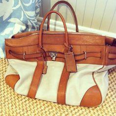 Lovely vintage Birkin style bag | credit - annaspiro