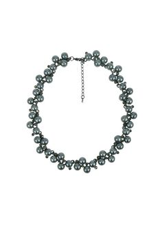 Moda Cluster Necklace - Grey Pearl $49.95  #leethal #accessories #fashion