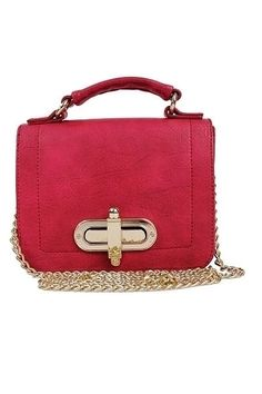 Fuchsia Satchel Bag <3 Available at www.tinynovaboutique.com
