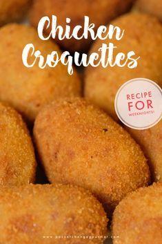 Chicken Croquettes, Potato Croquettes, Chicken Patties, Dutch Recipes, Cuban Recipes, Cooking Recipes, Amish Recipes, Beignets, Gourmet