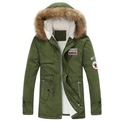 Casual Slim Fit Winter Parka
