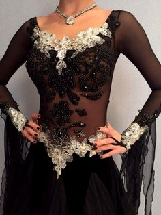 Ballroom Dance Dress Modern Waltz Tango Standard Dance Dress Leopard Dress 17M34