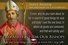 Saint Anselm, Archbishop of Canterbury (