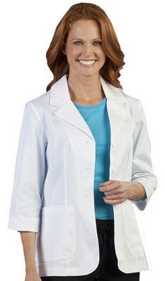 Peaches Uniforms Women's 3/4 Sleeve Fashion Lab Coat