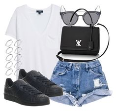 """""""Untitled #5025"""" by natalie-123s ❤ liked on Polyvore featuring MANGO, GANT, ASOS and adidas"""