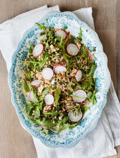 farro salad with kale pesto / loveandlemons
