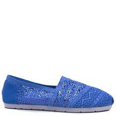 Blue espadrille with lace