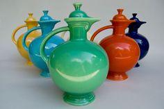 Vintage Fiesta Carafe in Original Green: Fiestaware Pottery For Sale