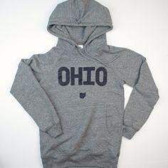 Ohio hooded Sweat Shirt.