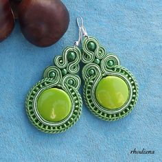 Items similar to Lime Soutache earrings on Etsy Soutache Necklace, Beaded Earrings, Crochet Earrings, Plastic Canvas Tissue Boxes, Plastic Canvas Patterns, Boho Jewelry, Beaded Jewelry, Polymer Clay Charms, Monster High Dolls