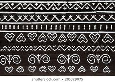 Unique decoration of log houses based on patterns used in traditional embroidery in village of Cicmany, UNESCO World Heritage Site, Slovakia Pattern Art, Art Patterns, Border Embroidery Designs, Border Design, Log Homes, Mesto, Photo Editing, Stock Photos, Heritage Site