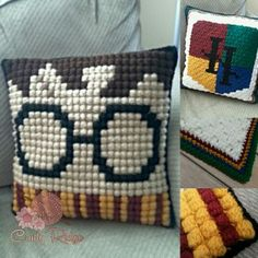 Potter Pillow - free crochet pattern from Crafty Ridge Designs.
