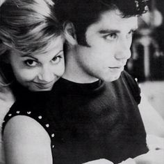 John Travolta & Olivia Newton John, during the filming of  Grease, 1978