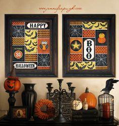 Happy Halloween  11x14 Art print Set Framed by JenniferPughStudios, $90.00
