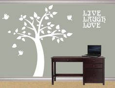 Modern Wall Decal Modern Cute Room Tree Wall By DIYVinylDesigns, $84.00