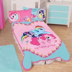My Little Pony 62 x 90 Twin Plush Blanket My Little Pony Blanket, My Little Pony Bedding, Girls Bedroom, Bedroom Decor, Hasbro My Little Pony, Bed Sets, My Little Pony Friendship, Little Girl Rooms, Bedding Sets