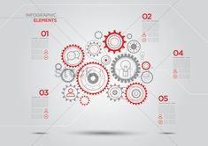Infographic elements with cogwheels Imagenes vectoriales - 1504615 | StockUnlimited