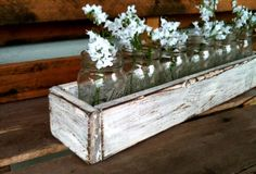 Rustic Planter Centerpiece 20""