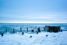 Delaware Bay covered in icy slush during one of the coldest days of the 2015 winter. Photo taken from Port Mahon, De.