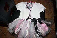 Pink Paris TuTu set by SavyBoutiquetx on Etsy, $45.00