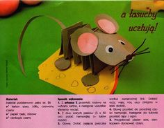 and make a cute face add up to a cute reverent mouse craft idea Preschool Crafts, Crafts For Kids, Arts And Crafts, Paper Crafts, Projects For Kids, Diy For Kids, Craft Projects, Mouse Crafts, Animal Crafts
