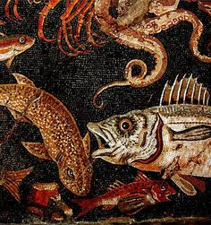 Detail of mosaic from Herculaneum, Italy, before 79 CE.