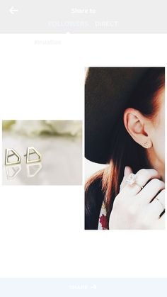 Yellow gold diamond shaped earrings! #yellowgold #studs #minimalistic