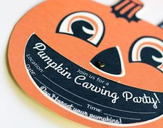 Now comes the most important part of Halloween party planning — inviting the party monsters. Halloween Party Themes, Halloween Party Invitations, Halloween Activities, Halloween Cards, Bloody Halloween, Spirit Halloween, Uses Of Pumpkin, Monster Party, Party Monsters
