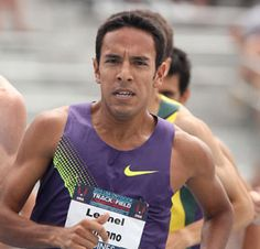 Austin runner Leo Manzano currently holds the record for the fastest mile ever run in Texas, at Look for him again at this summer's Olympics. Olympic Runners, Olympic Athletes, Summer Olympics, Team Usa, Running Workouts, Track And Field, Leo, Tank Man, Health Fitness