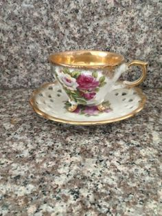 Royal Ashley Fine China Tea Cup Saucer