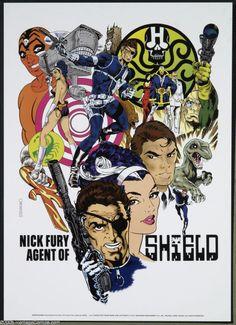 Nick Fury agent of S.H.I.E.L.D., Jim Steranko poster