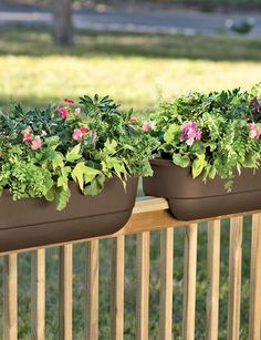 21 Best Railing Planters Images Window Boxes Deck Railing