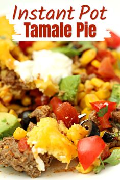 Chili Cornbread Casserole, Tamale Casserole, Tamale Pie, Casserole Recipes, Instant Pot Pressure Cooker, Pressure Cooker Recipes, Pressure Cooking, Pressure Pot, Beef Recipes