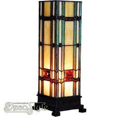 Tiffany Windlicht Geramura Small Een bijzonder mooi windlicht. Helemaal met de hand gemaakt van echt Tiffanyglas. Dit originele glas zorgt voor de warme uitstraling. De voet is vervaardigd van brons. Met 1x kleine fitting (E14). Met schakelaar in het lichtnetsnoer. Afmetingen: Hoogte: 35 cm Breedte: 12,5 cm Diepte: 12,5 cm