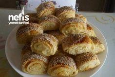 Katmerli Simit  Poğaça (Yumuşacık ) Tarifi Turkish Recipes, Pretzel Bites, Superfood, French Toast, Muffin, Food And Drink, Cheesecake, Bread, Snacks