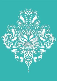 Shabby Chic STENCIL: Doodle Damask Wallpaper от TouchTheWood