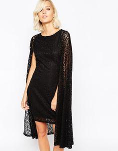 Lavish Alice Lace Cape Mini Dress