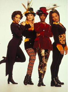 #FlyGirls Old school hip hop inspiration----Yes the girl all the way to your left is J-LO.