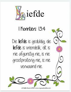Afrikaans Quotes, Bible Journal, Spiritual Inspiration, Christianity, Doodle, Journaling, Spirituality, Faith, Decor