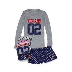 Victoria's Secret Houston Texans Tee & Boxer Gift Set found on Polyvore