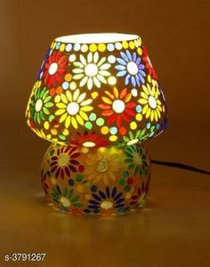 LED Lights & Lamps Multicolor Hand Decorative With Colorful Beads & Chips Glass Table Lamp  Product Type : Table Lamp  Material : Glass Cord Length:-60 inch Shade Length:-14 cm Description : It Has Set Of 1 Glass Table Lamp Country of Origin: India Sizes Available: Free Size   Catalog Rating: ★4.1 (1646)  Catalog Name: Multicolor Hand Decorative With Colorful Beads & Chips Glass Table Lamp Vol 2 CatalogID_531387 C103-SC1416 Code: 993-3791267-8301